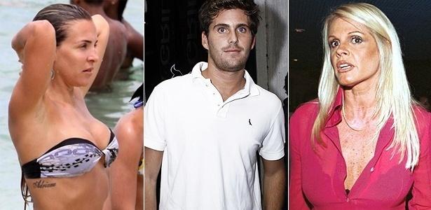 A ex-namorada do jogador Adriano, Joana Machado, Thiago Gagliasso e Monique Evans (à dir.), que estão em A Fazenda 3