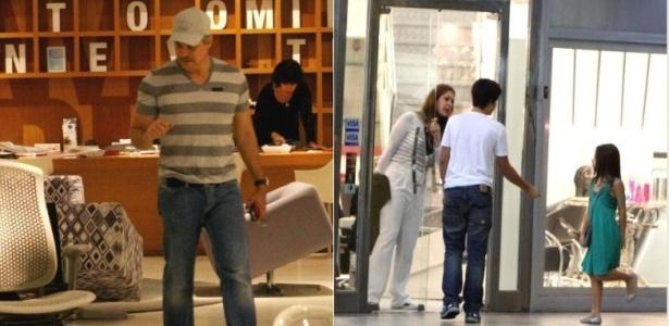 Recém-separados, Cláudia Raia e Edson Celulari passeiam no Rio