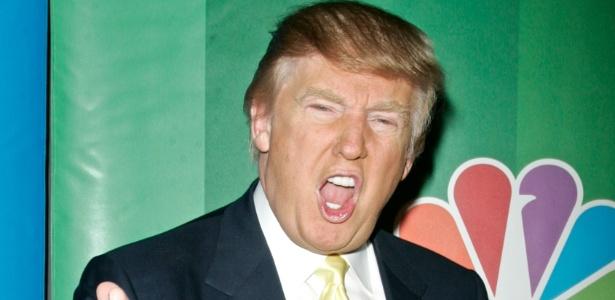 O empresário e apresentador Donald Trump em evento do canal NBC, em Nova York (17/5/2010)