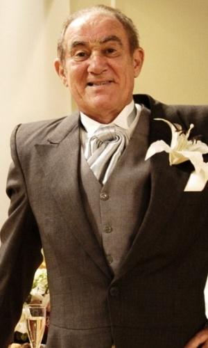 Renato Aragão em gravação do programa