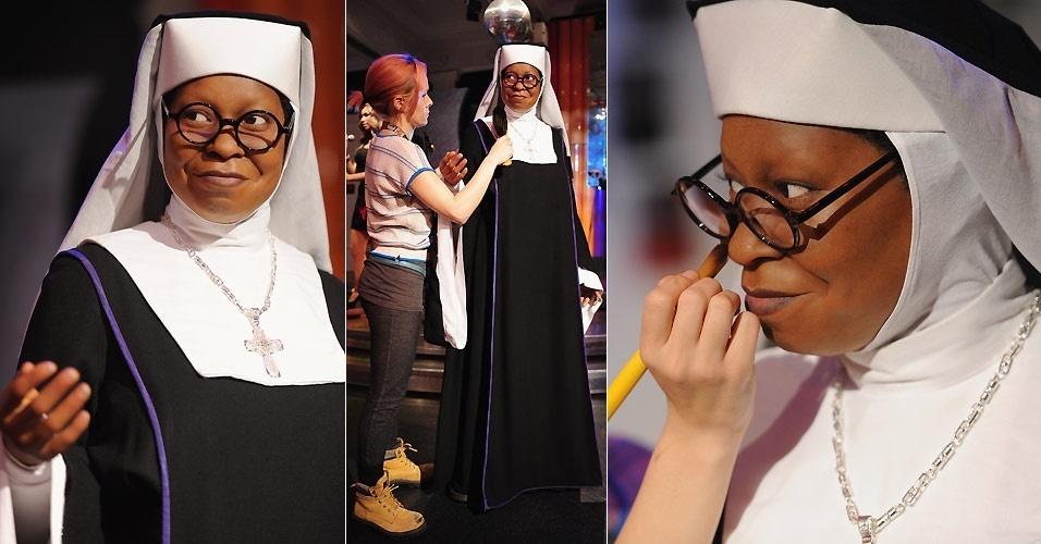 Estátua de cera de Whoopi Goldberg no Madame Tussauds de Londres (18/8/2010)
