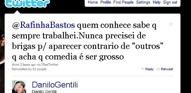 Danilo Gentili troca farpas no Twitter (19/8/10)