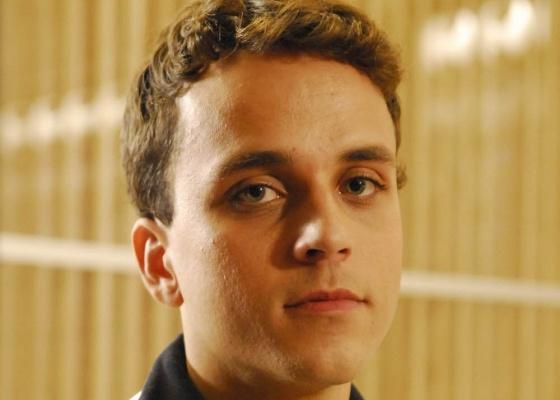 Paulo Vilela durante gravação de