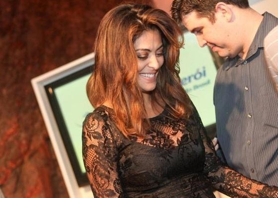 Juliana Paes durante apresentação do prêmio