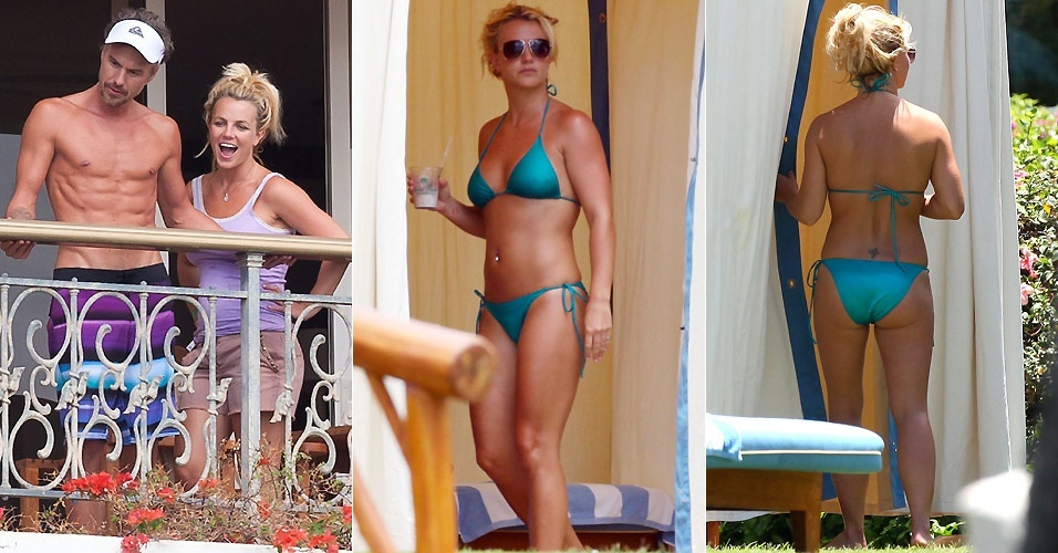 Britney Spears com o namorado Jason Trawick em resort em Maui, no Havaí (28 e 29/8/2010)