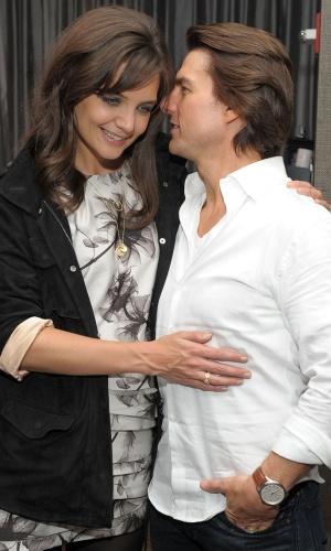 Katie Holmes e Tom Cruise na pré-estreia de