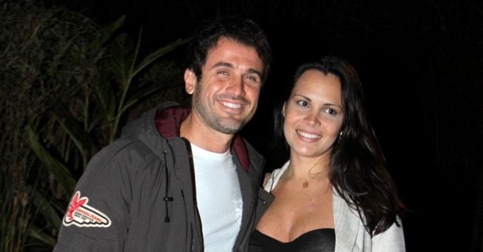 Eriberto Leão e Andréa Leal vão ao aniversário de Giovanna Ewbank em São Conrado, na zona sul do Rio de Janeiro (19/9/10)