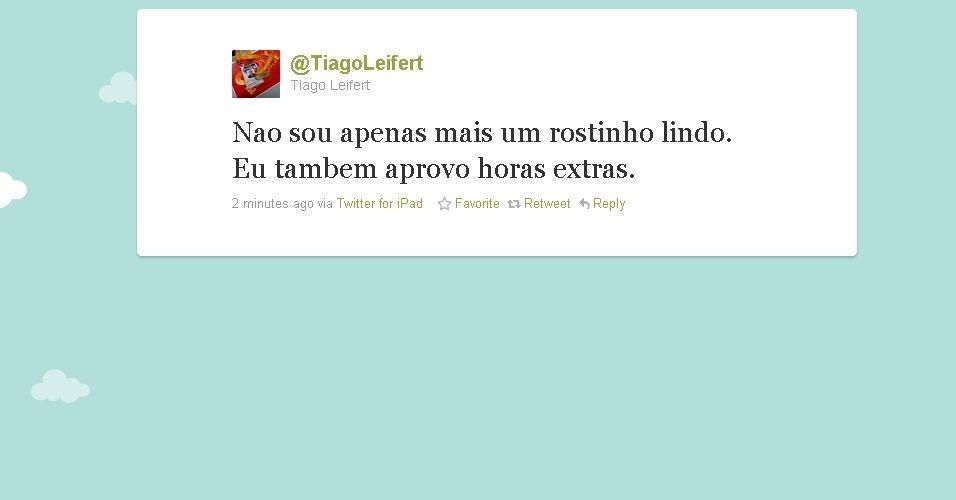Post de Tiago Leifert no Twitter (15/10/2010)