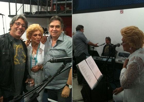 Ivan Lins, Hebe Camargo e Guto Graça Mello ensaiam para o DVD da apresentadora em São Paulo (20/10/10)