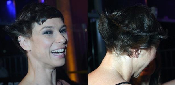 Maria Paula exibe novo corte de cabelo na festa da MTV (20/10/2010)