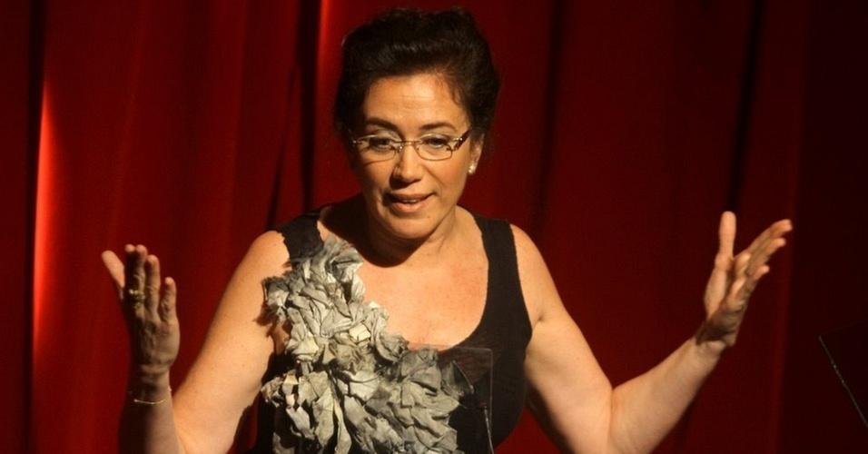 Lília Cabral durante o 4º Prêmio Contigo! de Teatro (16/11/10)