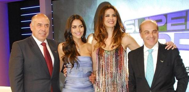 Amilcare Dalevo, Daniela Albuquerque, Luciana Gimenez e Marcelo Carvalho, na RedeTV!