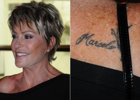 Ana Maria Braga exibe tatuagem em homenagem ao marido durante evento em São Paulo (25/11/10)