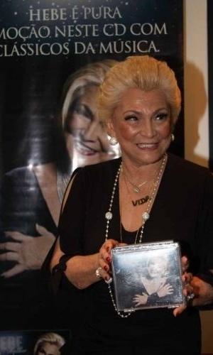 """Hebe Camargo lança em São Paulo o CD """"Hebe Mulher"""" (1/12/2010)"""