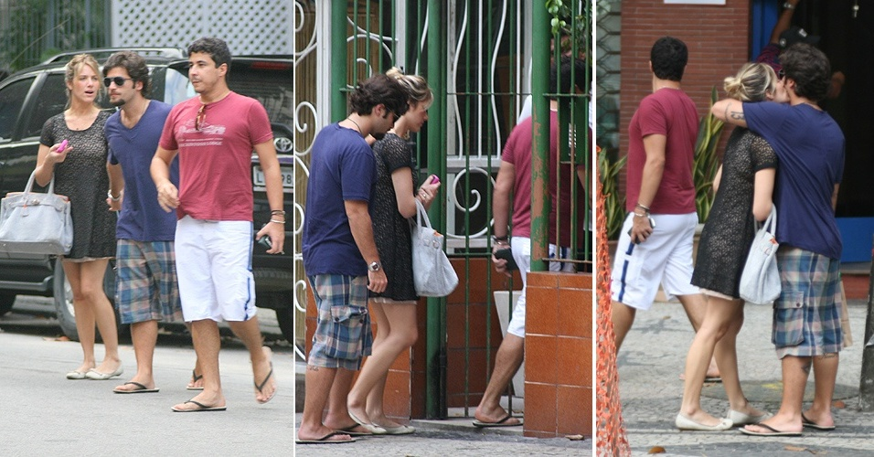 Bruno Gagliasso e Giovanna Ewbank visitam amigo no Leblon, no Rio de Janeiro (04/12/2010)