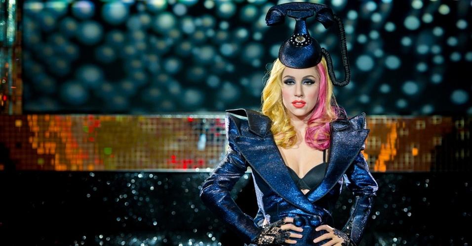 Uma das réplicas da cantora Lady Gaga no museu Madame Tussauds em Berlim (9/12/2010)