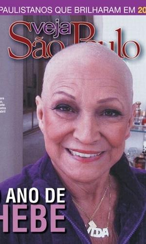 Hebe Camargo aparece sem peruca em capa da revista Veja São Paulo (11/12/2010)