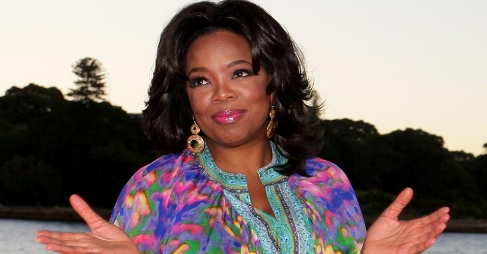 Oprah Winfrey grava episódios de seu programa em Sydney, Austrália (11/12/2010)
