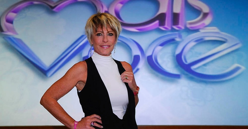 Ana Maria Braga no estúdio do programa