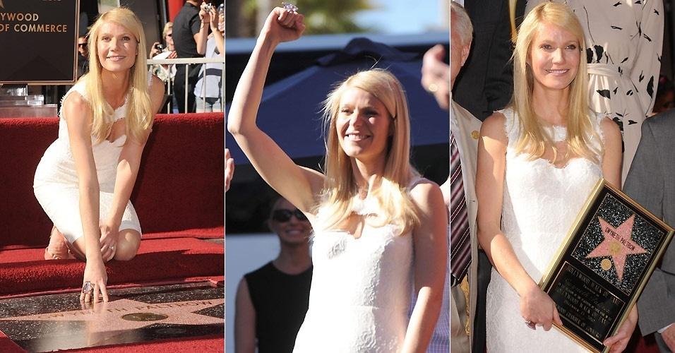 Gwyneth Paltrow recebe uma estrela na Calçada da Fama em Hollywood (13/12/2010)