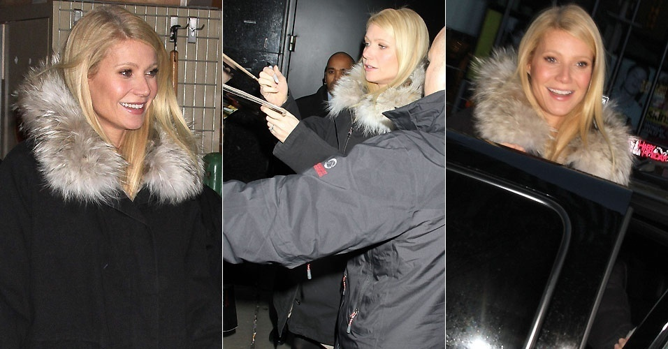 Gwyneth Paltrow atende fãs em Nova York (3/1/2010)