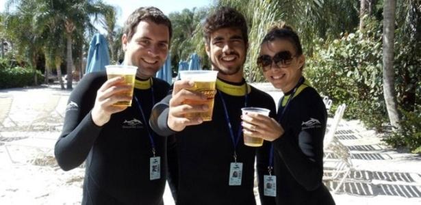 Felipe Carauta, Caio Castro e Maíz de Oliveira em Orlando (10/2/11)