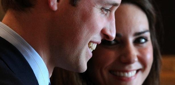 Príncipe William e Kate Middleton durante visita à Universidade St.Andrews, na Escócia (25/2/2011) - Getty Images