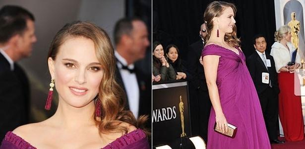 A estrela mais esperada da noite, Natalie Portman, indicada como melhor atriz por