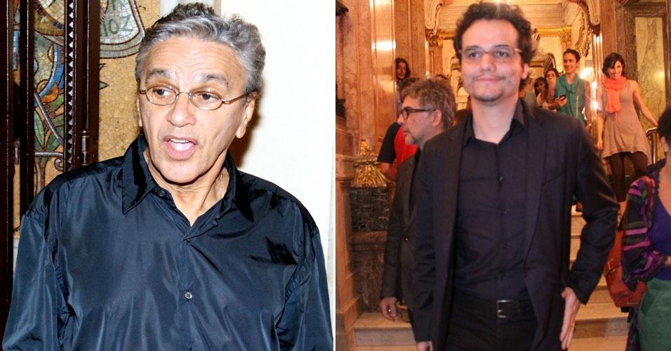 Caetano Veloso e Wagner Moura vão em apresentação no Theatro Municipal do Rio de Janeiro (5/4/11)