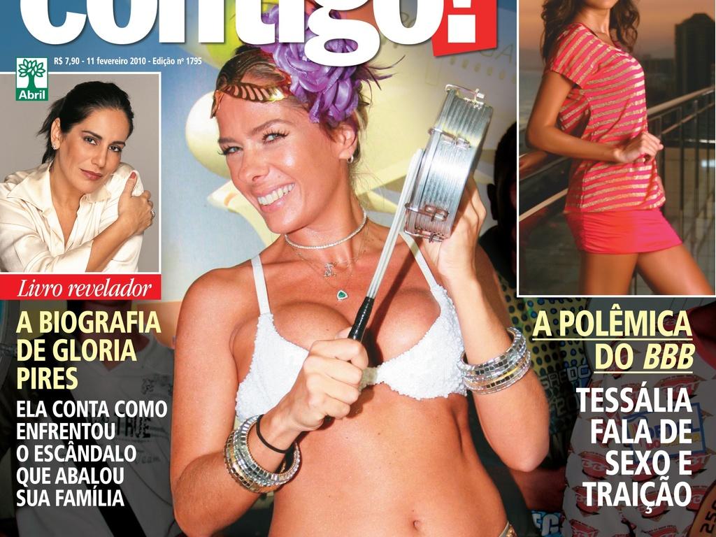 Grávida de três meses, Adriane Galisteu posa para a capa da