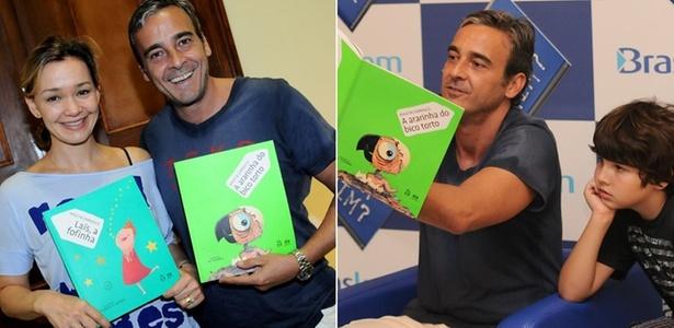 Júlia Lemmertz e Alexandre Borges leem para plateia infantil em museu de São Paulo (23/4/11)