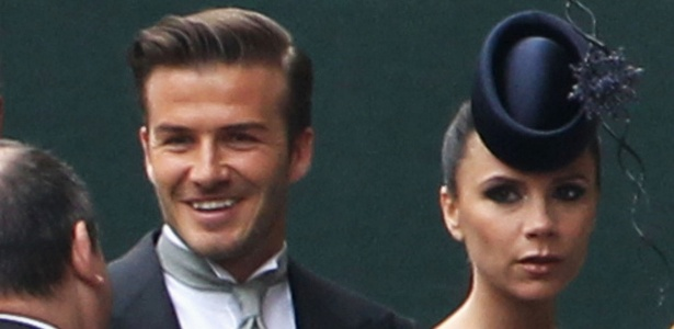 David e Victoria Beckham chegam à Abadia de Westminster para o casamento do príncipe William e Kate Middleton, em Londres (29/4/2011) - Getty Images