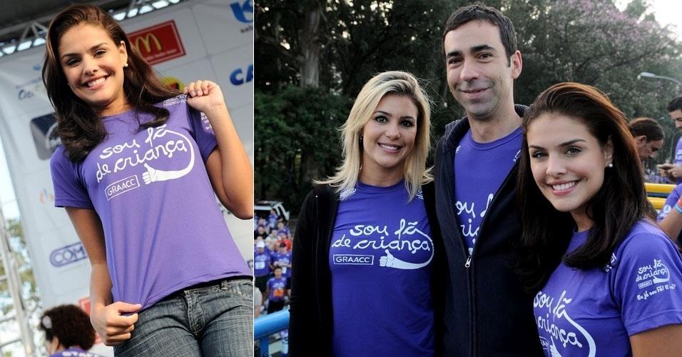 Paloma Bernardi, César Tralli e Flávia Freire participam da 11ª Corrida e Caminhada GRAACC em São Paulo  (8/5/11)