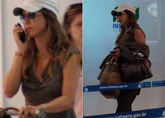 Guilhermina Guinle no aeroporto Santos Dumont, no Rio (12/5/2011)