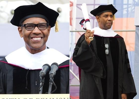 Denzel Washington recebe diploma honorário da Universidade da Pensilvânia (16/5/2011)