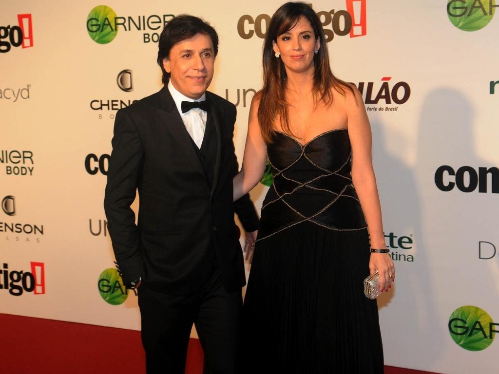 Tom Cavalcante e a mulher, Patrícia, no