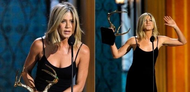 Jennifer Aniston recebe o prêmio