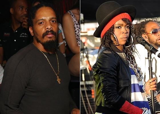 Rohan Marley (esq.) e Lauryn Hill (dir.). O filho de Bob Marley negou ser o pai da criança que Lauryn está esperando