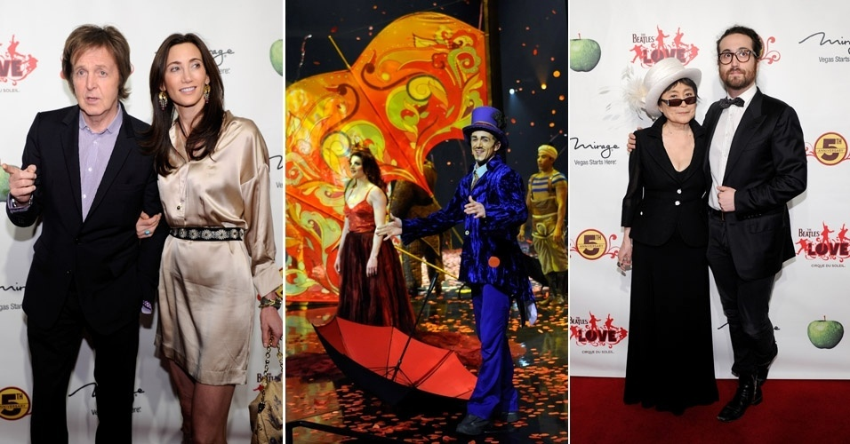 Paul McCartney e namorada encontram Yoko Ono e Sean Lennon no espetáculo do Cirque du Soleil