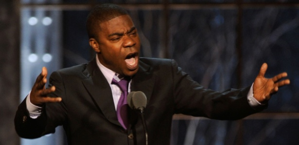 "O ator e comediante Tracy Morgan, de ""30 Rock"", discursa durante o primeiro Annual Comedy Awards, em Nova York (26/3/11)"