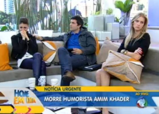 "Cris Flores, Eduardo Guedes e Gianne Albertoni lamentam a ""morte"" de Amin Khader"