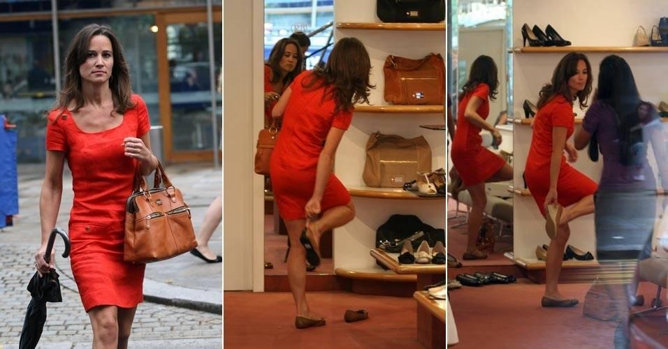 Pippa Middleton compra sapatos em Londres (28/6/11)