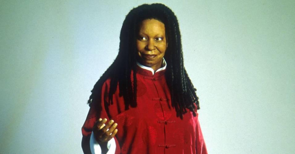 Figura de cera da atriz Whoopi Goldberg no museu Madame Tussauds de Nova York (25/4/2000)
