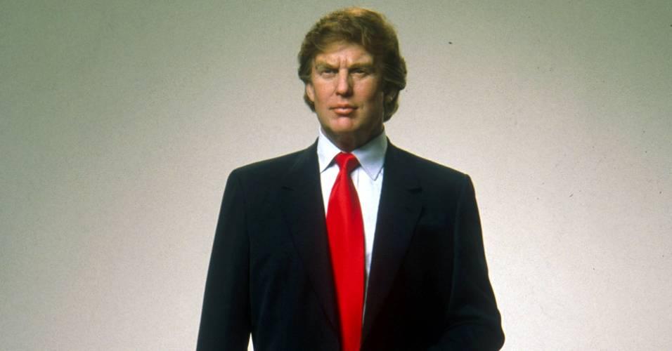 Figura de cera do empresário e apresentador Donald Trump no museu Madame Tussauds de Nova York (25/4/2000)
