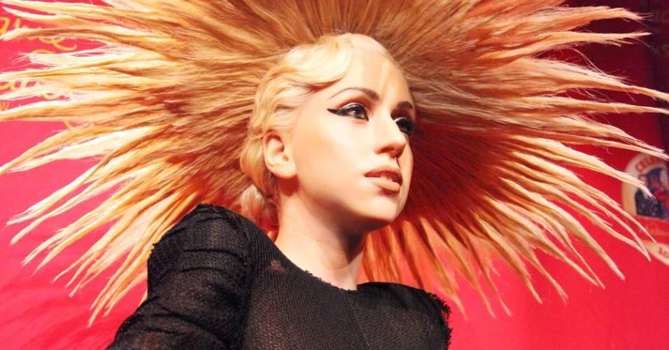 Figura de cera da cantora Lady Gaga no museu Madame Tussauds de Nova York (9/12/2010)