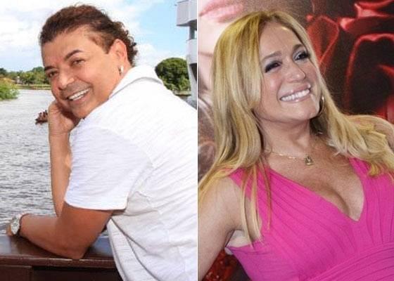O promoter David Brazil e a atriz Susana Vieira