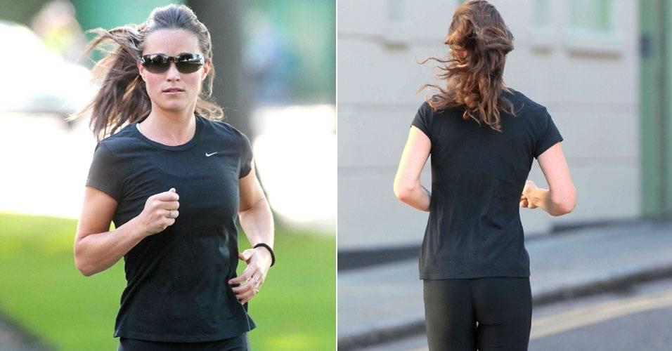 Pippa Middleton é vista ao fazer sua corrida matinal em Londres (21/7/11)