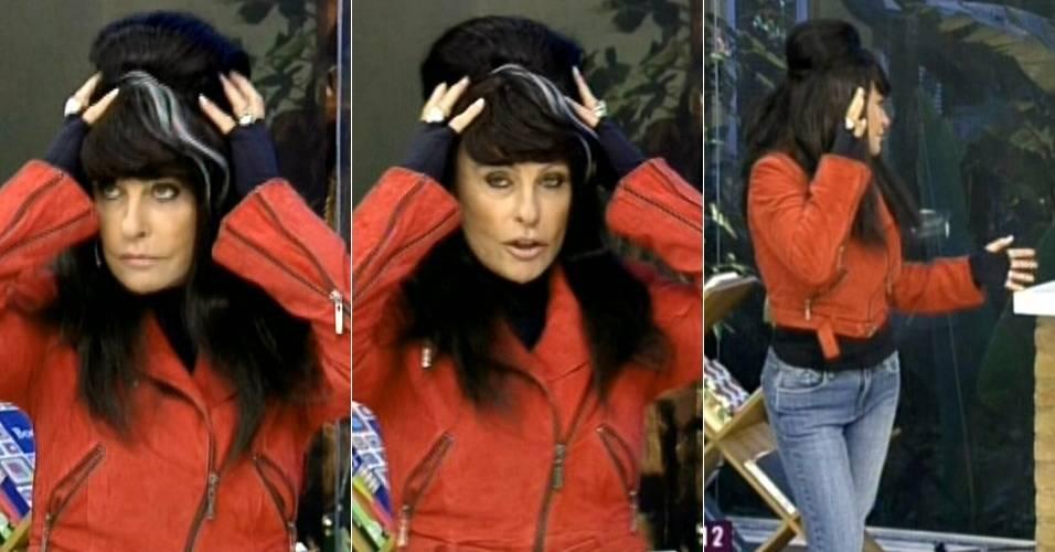 Ana Maria Braga se fantasia de Amy Winehouse no
