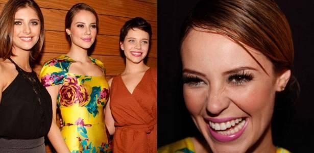 Tammy Di Calafiori, Paola Oliveira e Bruna Linzmeyer vão a evento de moda em São Paulo (2/8/2011)