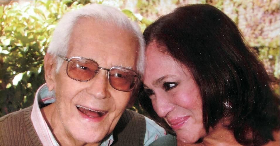 Susana Vieira posa com o pai, Marius